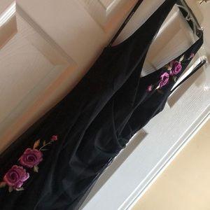 Black Rampage Halter Dress